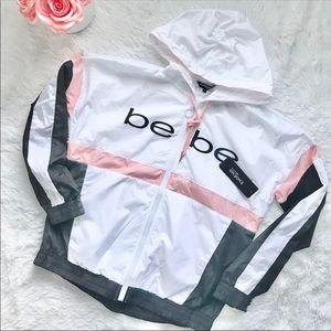 NWT BEBE windbreaker jacket hoodie